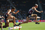 Yoann Kowal and Mahiedine Mekhissi Benabbad competes in 3000m steeple during the European Championships 2018, at Olympic Stadium in Berlin, Germany, Day 1, on August 7, 2018 - Photo Philippe Millereau / KMSP / ProSportsImages / DPPI