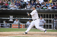 CHICAGO - SEPTEMBER 10:  A.J. Pierzynski #12 of the Chicago White Sox bats against the Cleveland Indians on September 10, 2011 at U.S. Cellular Field in Chicago, Illinois.  The White Sox defeated the Indians 7-3.  (Photo by Ron Vesely)   Subject: A.J. Pierzynski