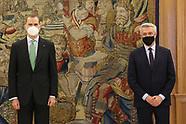 021221 King Felipe VI attends an audience at Zarzuela Palace