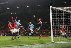 10 December 2017 -  Premier League - Manchester United v Manchester City - David Silva of Manchester City scores the opening goal - Photo: Marc Atkins/Offside