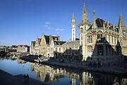 Ghent, Belgium, Mar 02, 2007, De Graslei