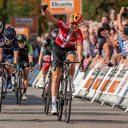 31-08-2018: Wielrennen: Ladies Tour: Weert<br /> Amalie Dideriksen (Boels Dolmans Cyclingteam) pakt na Gennep, ook de winst in Weert, In de Sprint verrslaat zij nipt Lucinda Brand (Team Sunweb) en Lorena Wiebes (Parkhotel Valkenburg)