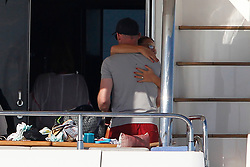 EXCLUSIVE Wayne Rooney, his wife Coleen, his sons Kai, Klay and Kit go sailing on a large yacht through the crystal clear waters of Formentera (Balearic Islands) with their family. Wayne has yet to reveal his plans for next season amid continuing rumours of a mega money transfer to China.<br /> <br /> <br /> 30 June 2017.<br /> <br /> Please byline: Vantagenews.com