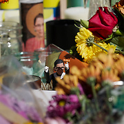 Flowers and notes are seen as mourners pay their respects to the late Justice Ruth Bader Ginsburg at a makeshift memorial on outside the Supreme Court on Saturday, September 19, 2020.. Ginsburg passed away on Sept. 18 at the age of 87.