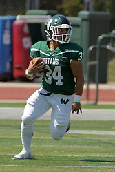 09 September 2017:  Nick Harcar during an NCAA division 3 football game between the Nebraska Wesleyan PRAIRIE WOLVES and the Illinois Wesleyan Titans in Tucci Stadium on Wilder Field, Bloomington IL