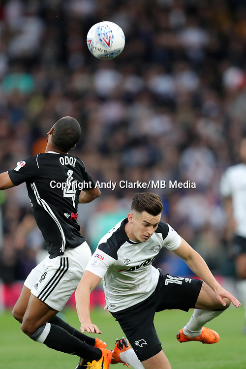 DERBY, ENGLAND - MAY 11: - DCFC vs Fulham. Tom Lawrence, is fouled
