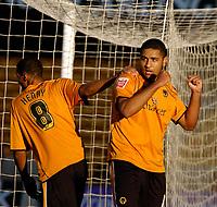 Photo: Ed Godden.<br /> Wolverhampton Wanderers v Southend United. Coca Cola Championship. 04/11/2006. Wolves' Leon Clarke (R), celebrates his opening goal.