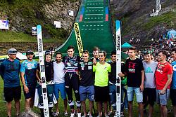 Nejc Dezman finishing his career with his team mates during Celinski pokal v smucarskih skokih, on the 5th of July 2019, Kranj, Slovenia. Photo by Matic Ritonja / Sportida