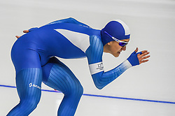 February 23, 2018 - Pyeongchang, Gangwon, South Korea - Chung Jaewoong of South Korea  at 1000 meter speedskating at winter olympics, Gangneung South Korea on February 23, 2018. (Credit Image: © Ulrik Pedersen/NurPhoto via ZUMA Press)