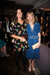 Left to right, stylist VENETIA SCOTT and ANGELA STAPLES at a party to celebrate the publication of The Shape of Her by Rowan Somerville held at Quo Vadis, 26 Dean Street, London on 22nd June 2010.