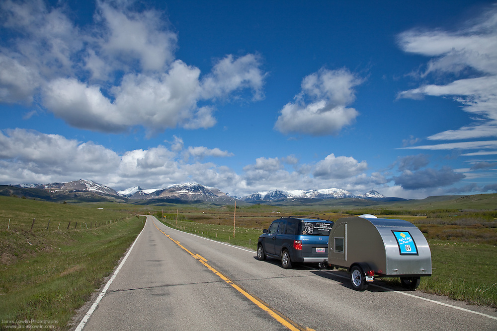 Photographer James Cowlin stops along US Route 89 in Glacier National Park
