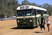 Leyland Worldmaster ERT1/1 bus, MTT452, picking up passengers at Caversham Historic Motoring Fair. Caversham, Perth, Western Australia.<br /> Sunday, 15th November 2009
