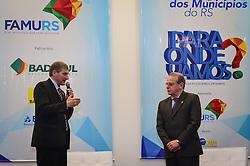 O candidato a reeleição e governador do Estado, Tarso Genro durante o 34º Congresso de Municípios, no Plaza São Rafael, em Porto Alegre. FOTO: Vinícius Costa/Agência Preview