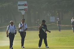 October 14, 2017 - Monza, Italy - Kiradech Aphibarnrat of Thailandia on Day three of the Italian Open at Golf Club Milano  (Credit Image: © Gaetano Piazzolla/Pacific Press via ZUMA Wire)