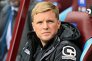 Bournemouth Manager Eddie Howe looks on.<br /> Barclays Premier League match, Aston Villa v AFC Bournemouth at Villa Park in Birmingham, The Midlands on Saturday 09th April 2016.<br /> Pic by Ian Smith, Andrew Orchard Sports Photography.