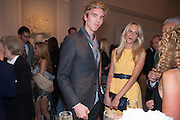 JAMES COOK; POPPY DELEVIGNE; KELLY HOPPEN, Cartier Tank Anglaise launch. Kensington Palace Orangery, London.  19 April 2012.