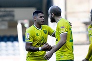 Goal  Norwich City forward Teemu Pukki (22) scores a goal and celebrates  with Norwich City midfielder Onel Hernandez (25) 0-1 during the EFL Sky Bet Championship match between Wycombe Wanderers and Norwich City at Adams Park, High Wycombe, England on 28 February 2021.