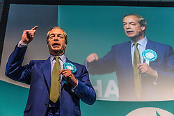 The Brexit Party holds a rally at the Corn Exchange in Edinburgh attended by party leader Nigel Farage