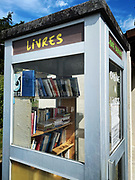 A library in a telephone booth, France