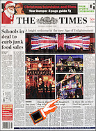 Terrace House Decorated in Christmas Lights / The Times / December 2003