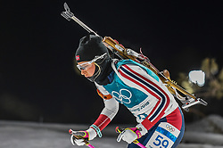 February 12, 2018 - Pyeongchang, Gangwon, South Korea - Ingrid Landmark Tandrevold of Norway  competing at Women's 10km Pursuit, Biathlon, at olympics at Alpensia biathlon stadium, Pyeongchang, South Korea. on February 12, 2018. (Credit Image: © Ulrik Pedersen/NurPhoto via ZUMA Press)