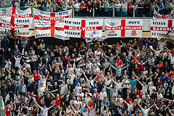 England fans celebrate a goal from Andros Townsend to level at 1-1 - Photo mandatory by-line: Rogan Thomson/JMP - 07966 386802 - 31/03/2015 - SPORT - FOOTBALL - Turin, Italy - Juventus Stadium - Italy v England - FIFA International Friendly Match.