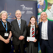 27.04.2016.          <br />  Kalin Foy and Ciara Coyle win SciFest@LIT<br /> Kalin Foy and Ciara Coyle from Colaiste Chiarain Croom to represent Limerick at Ireland's largest science competition.<br /> <br /> Coláiste Chiarain students, Róisín Casey and Dorota Golinksa's project, Is radon gas slowly killing you?, was Junior Second in the Life Sciences Category. Róisín Casey is pictured with George Porter, SciFest and Brian Aherne, Intel<br /> <br /> Of the over 110 projects exhibited at SciFest@LIT 2016, the top prize on the day went to Kalin Foy and Ciara Coyle from Colaiste Chiarain Croom for their project, 'To design and manufacture wireless trailer lights'. The runner-up prize went to a team from John the Baptist Community School, Hospital with their project on 'Educating the Youth of Ireland about Farm Safety'. Picture: Fusionshooters