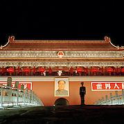 Tiananmen Gate, the entrance to the Forbidden City, Beijing, China