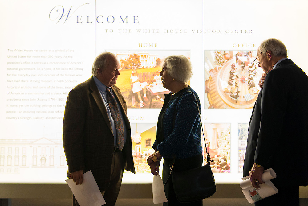 Prior to the October meeting of the WHHA Board of Directors, board members were offered a preview of the White House Visitor Center during the installation-phase. (Photo by Matthew D'Agostino / WHHA) 2013 White House Historical Association