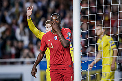 March 22, 2019 - Na - Lisboa, 03/22/2019 - The Portuguese Football Team received their Ukrainian counterpart this afternoon at the Estádio da Luz in Lisbon, in the Group B game, in the qualifying round for the 2020 European Championship. William Carvalho reacts after having seeing the goal canceled  (Credit Image: © Atlantico Press via ZUMA Wire)