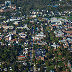 aerial view of the University of Delaware, Home of the Blue hens college football, newark delaware