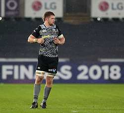 Ospreys' Olly Cracknell<br /> <br /> Photographer Simon King/Replay Images<br /> <br /> European Rugby Champions Cup Round 5 - Ospreys v Saracens - Saturday 13th January 2018 - Liberty Stadium - Swansea<br /> <br /> World Copyright © Replay Images . All rights reserved. info@replayimages.co.uk - http://replayimages.co.uk