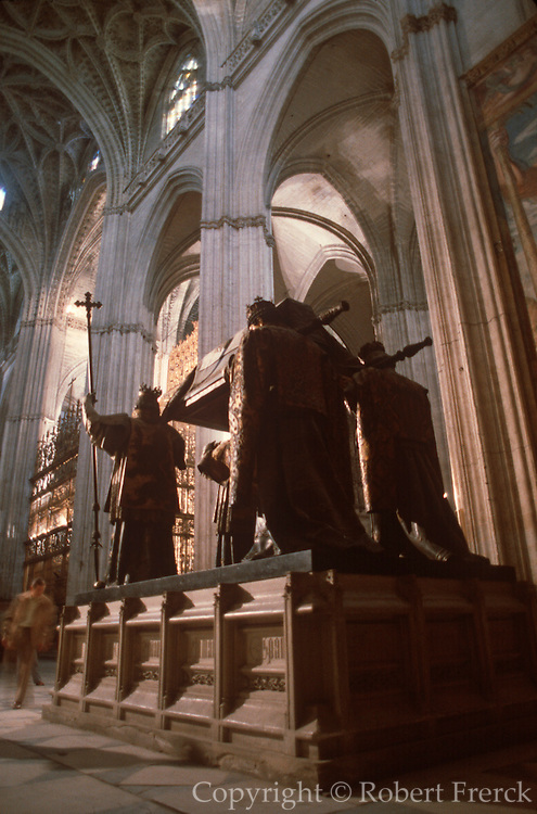 SPAIN, ANDALUSIA, SEVILLE Cathedral with Columbus tomb