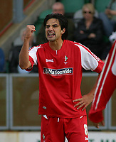 Photo: Paul Thomas.<br /> MK Dons v Swindon Town. Coca Cola League 1.<br /> 01/10/2005.<br /> <br /> Rory Fallon celebrates his goal for Swindon.