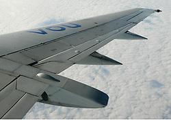 Avião decola no Aeroporto Internacional Salgado Filho. FOTO: Jefferson Bernardes/Preview.com