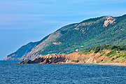Appalachain Mountains chain along the Gulf of St. Lawrence. Cape Breton Island. Cabot Trail. Cape Rouge.<br />Cape Breton Highlands National Park<br />Nova Scotia<br />Canada