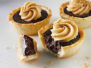 Chocolate tarts. Food Photos