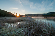 Mount Haynes during autumn morning sunrise with the Madison River, Yellowstone National Park, Wyoming.