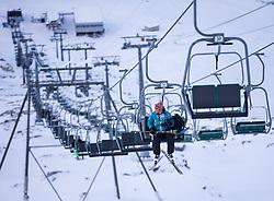 """TEMENBILD - Mölltaler Gletscher ist der Name für ein Skigebiet in Österreich, Kärnten, in der Nähe von Flattach. Das Skigebiet ist im Besitz der Schultz Gruppe. Das Skigebiet dient in den Sommer und Herbstmonaten als T Trainingstätte für den Internationalen Ski Zirkus. Aufgenommen am 17.10.2012. Hier im Bild Gipfellift zum Schareck (3.122m) """"Sesselbahn 3000"""" // THEME IMAGE FEATURE - Moelltal Glacier is the name of a ski resort in Austria, Carinthia, near Flattach. The resort is owned by the Schultz group. The ski area is in the summer and autumn months as T training venue for the International Ski Circus. The image was taken on october, 17th, 2012. Picture shows the chairlift to Schareck (3.122m) """"Sesselbahn 3000"""" . EXPA Pictures © 2012, PhotoCredit: EXPA/ J. Groder"""