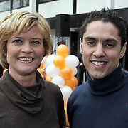 NLD/Hilversum/20080327 - Start ledenwerf actie omroep Max, Olga Commandeur en  Duco Bauwens