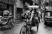 India, Old Delhi Rickshaw Driver, 2014