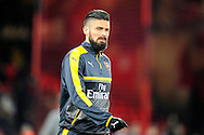 Olivier Giroud (12) of Arsenal warming up before the Premier League match between Bournemouth and Arsenal at the Vitality Stadium, Bournemouth, England on 3 January 2017. Photo by Graham Hunt.