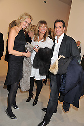Left to right, BODIL BLAIN, MARTE FRISNES and BRENT HOBERMAN at a private view of work by Mat Collishaw - 'This is Not an Exit' held at Blaine/Southern, 4 Hanover Square, London on 13th February 2013.
