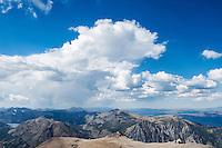 View north from summit of Mt. Dana (13,053 ft), Yosemite national park, California, USA