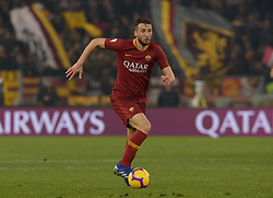 February 18, 2019 - Rome, Italy - Bryan Cristante during the Italian Serie A football match between A.S. Roma and F.C. Bologna at the Olympic Stadium in Rome, on february 18, 2019. (Credit Image: © Silvia Lore/NurPhoto via ZUMA Press)