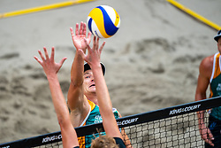 Martins Plavins LAT in action during the third day of the beach volleyball event King of the Court at Jaarbeursplein on September 11, 2020 in Utrecht.