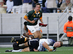 Deon Fourie dives over for the first try for the Stormers during the Festival of Rugby match between The Boland Cavaliers and The Stormers held at The Cape Town Stadium (formerly Green Point Stadium) in Cape Town, South Africa on 6 February 2010.  This is the first match/event to be held at the new stadium which was purpose built to host matches during the FIFA World Cup South Africa 2010.Photo by: Ron Gaunt/SPORTZPICS