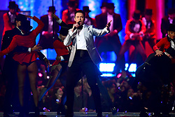 Hugh Jackman on stage at the Brit Awards 2019 at the O2 Arena, London. PRESS ASSOCIATION PHOTO. Picture date: Wednesday February 20, 2019. See PA story SHOWBIZ Brits. Photo credit should read: Victoria Jones/PA Wire. EDITORIAL USE ONLY. on stage at the Brit Awards 2019 at the O2 Arena, London. PRESS ASSOCIATION PHOTO. Picture date: Wednesday February 20, 2019. See PA story SHOWBIZ Brits. Photo credit should read: Victoria Jones/PA Wire. EDITORIAL USE ONLY.