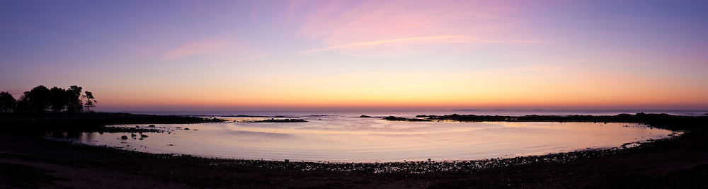 Dawn over the Atlantic Ocean at Odiorne Point State Park in Rye, New Hampshire.