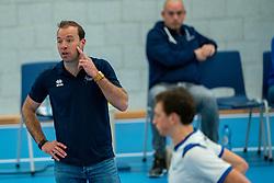 Trainer Coach Paul van der Ven of Sliedrecht in action during the semi cupfinal between Sliedrecht Sport vs. Draisma Dynamo on April 03, 2021 in sports hall De Basis, Sliedrecht